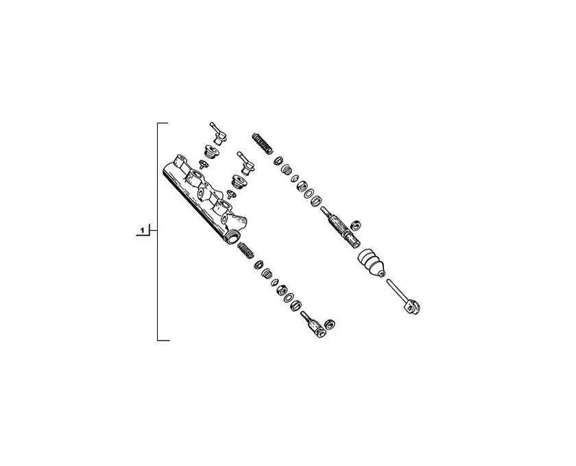 Moyeu d'articulation élastique de roue arrière