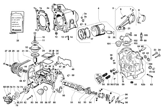 Carter - Albero motore - Cambio