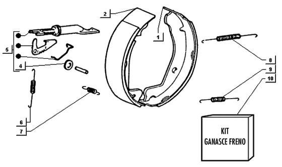 Fissaggio pompa e pedale freno